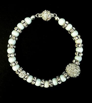 ROCK GLAMOUR COLLECTION-Pastel Blue Crystal Bracel