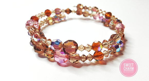 Chocolate & Strawberry Swarovski Bracelet