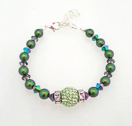 Luminous green sparkle bracelet