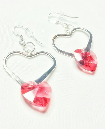 Exotic Love Heart Drop Earrings