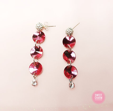Hot Rose Rivoli Dangle earrings