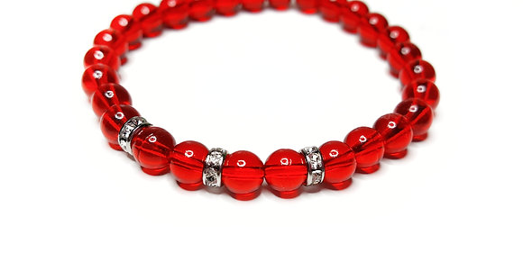 Siam red stretch bracelet-LIMITED