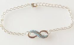 December Birthstone Infinity Knot