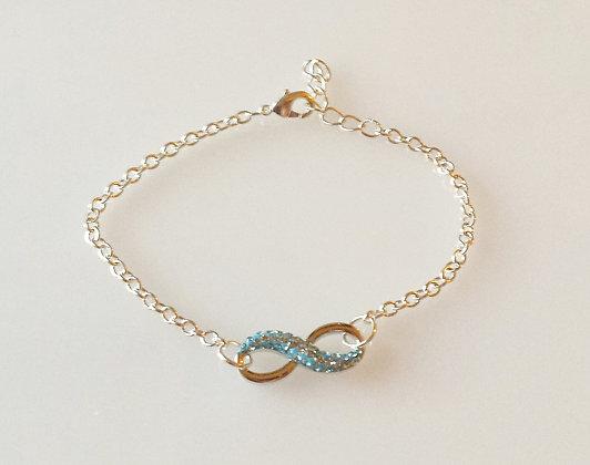 Swarovski Aqaumarine Pave Infinity Bracelet SW4