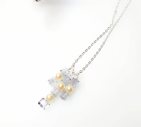 Frosty Winter Cube necklace
