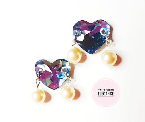 Princess Heart stud earring