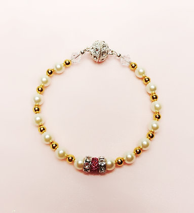 Pink and White Fashion bracelet