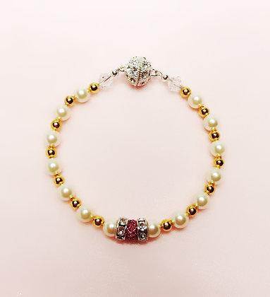 Pink and White Fashion bracelet