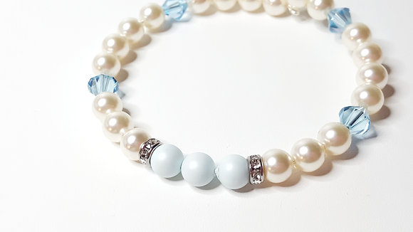 PASTEL DREAMS Light Aquamarine wrap bracelet