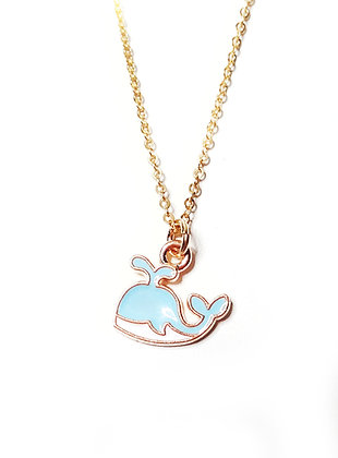 Sweet Charm Blue Whale Necklace