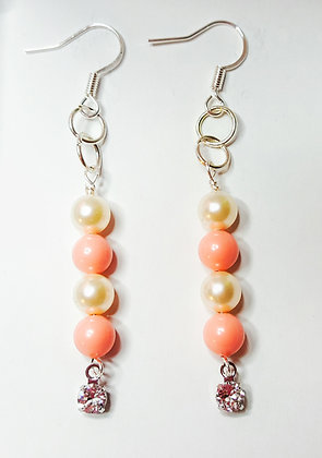 Swarovski© Pink Coral Dangle Earrings