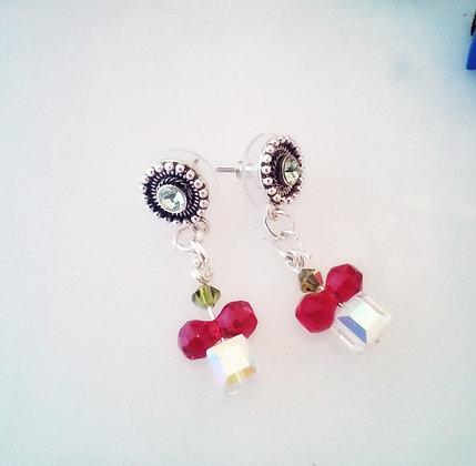 Swarovski Crystal Gift Drop earrings-SWG001