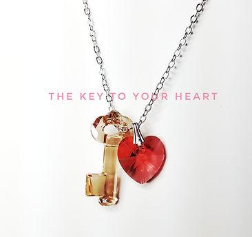 Key to your heart Swarovski necklace