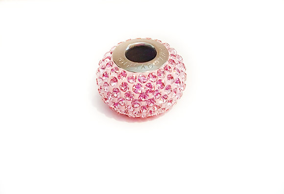 Pink Rose Swarovski© crystal charm