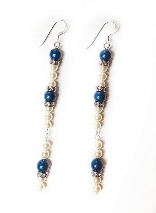 Antique Blue Sparkle Earring