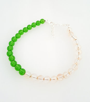 Fern green and Golden Shadow Bracelet