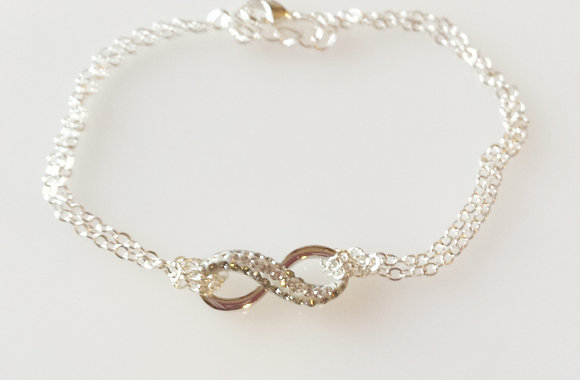 Swarovski Pave Infinity Bracelet Black Diamond SWB