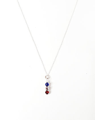 RWB Crystal Necklace