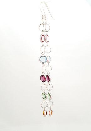 Spring Colored Swarovski Dangle Earrings