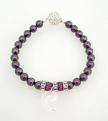 Iridescent Purple Bracelet