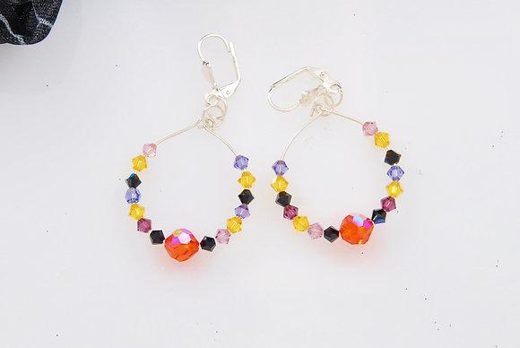 Swarovski Hoop Halloween earrings SWHE90216