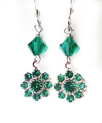 Month of Emerald drop earrings