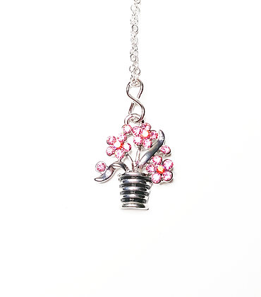 Pot of Flowers Necklace