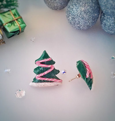 Christmas Tree Stud Handmade Earrings CT001