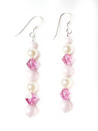 PASTEL DREAM cotton candy pink earrings