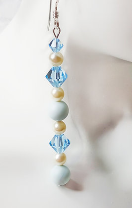 PASTEL DREAMS Light Aquamarine Earrings
