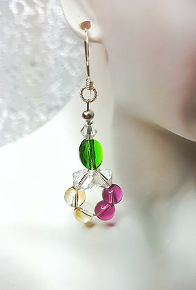 Swarovski© mini hoop drop earrings