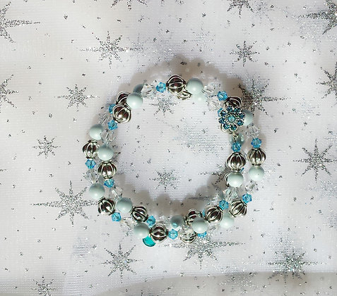 Ice Blue Wrap Bracelet