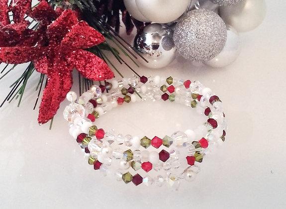 Swarovski Christmas wrap bracelet