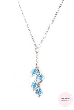 Winter princess flower necklace