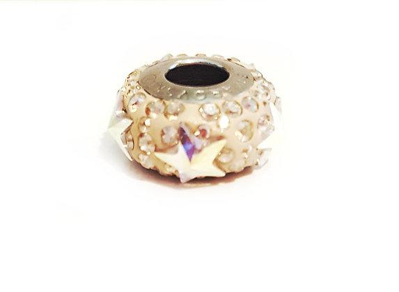 Golden Swarovski© crystal bead