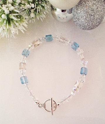 Blue and Silver Winter bracelet SWB003