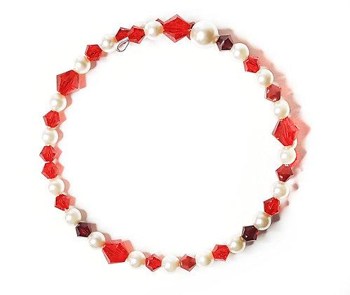 Red siam wrap bracelet