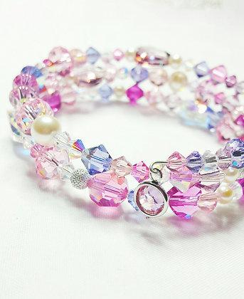 Sweet Heart Butterfly Love Wrap Bracelet