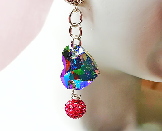 Heart Passion drop earring