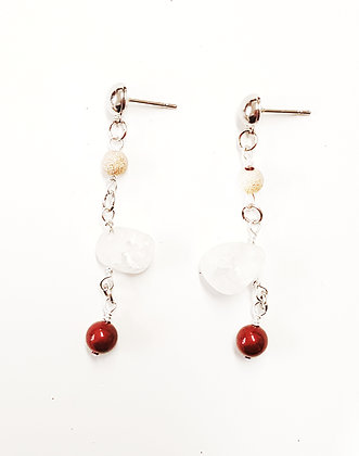 Winter Moon Drop Earrings