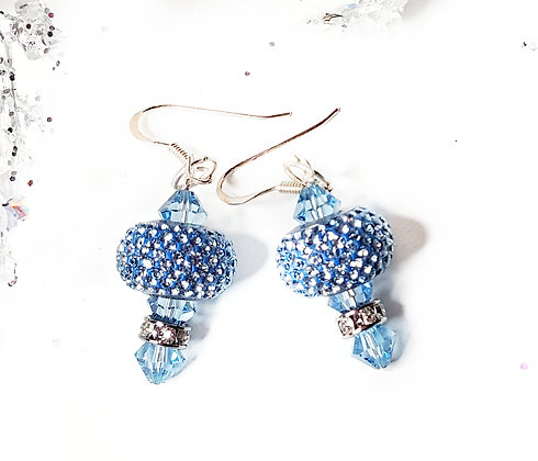 Winter Aquamarine Pave earring