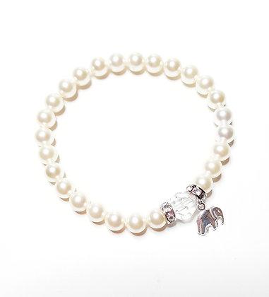 Elephant Charm Stretch Bracelet
