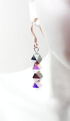 Light Chrome Spike drop earring