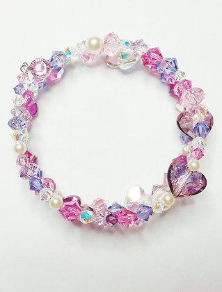 Pink Sweetheart wrap bracelet