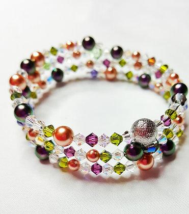 Mardi Gras Wrap bracelet