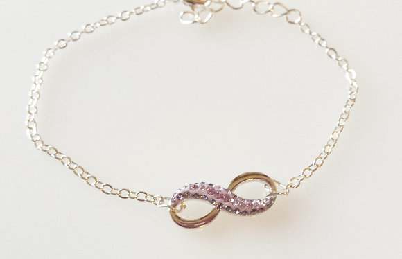 Swarovski Multi-Purple Infinity Bracelet SW2
