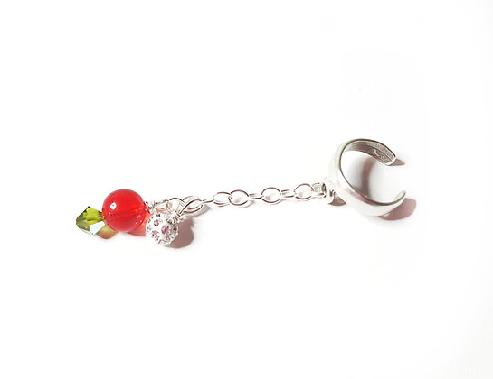 Red Apple ear cuff