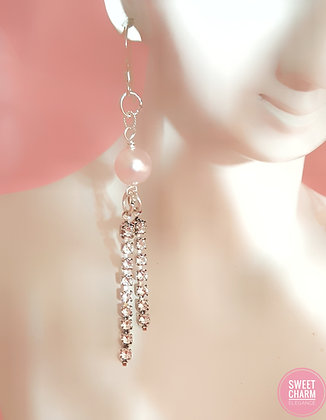 Simply Pink Twinkle dangle earrings