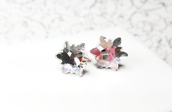 Edelweiss Snowflake stud earrings