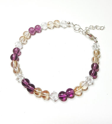 SW Golden Shadow and Amethyst Globe Bracelet